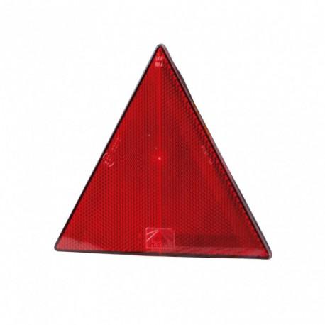 Catadiottro rosso triangolare adesivo