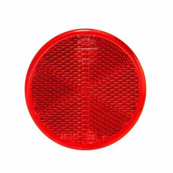 Catadiottro tondo rosso adesivo
