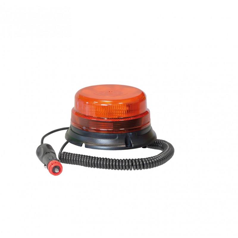 Lampeggiante a led lente bassa base magnetica 12V-24V