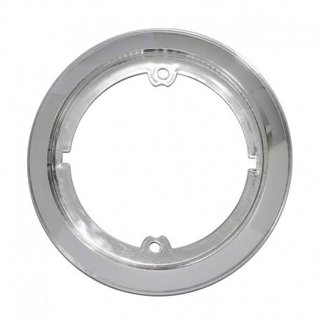 Accessorio anello cromato argento per fanale tondo Roundpoint