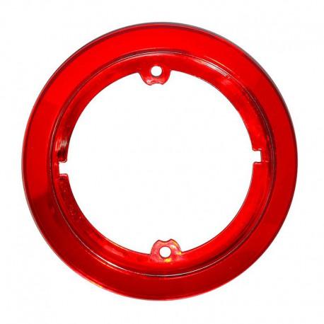 Accessorio anello cromato rosso per fanale tondo Roundpoint