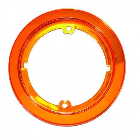 Accessorio anello cromato arancione per fanale tondo Roundpoint