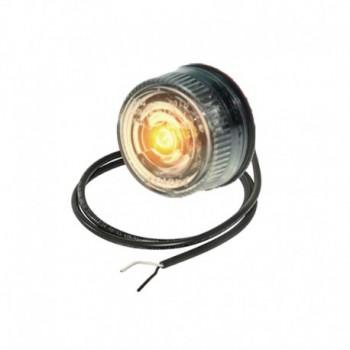 Luce laterale tonda Pro-Penny Led 12V cavo 0,5m e lente trasparente