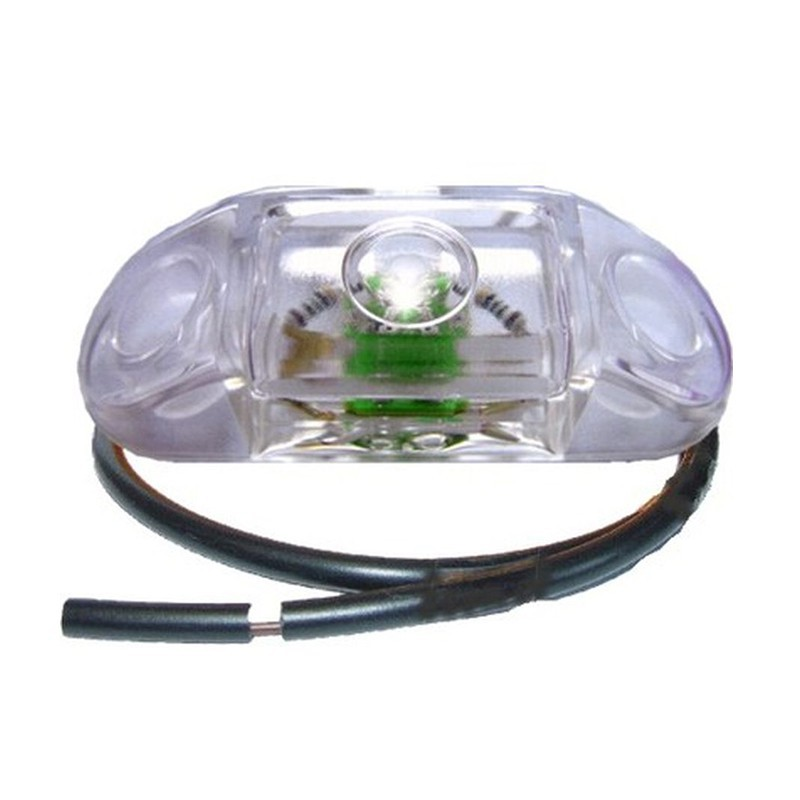Luce di ingombro anteriore bianca a led Pro-Can 12V con cavo 0,5m