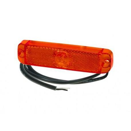 Luce di posizione posteriore rossa a led 130X32mm 12-24V cavo 1,5m