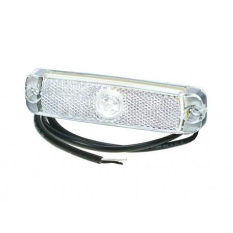 Luce di posizione anteriore bianca a led 130X32mm 12-24V cavo 1,5m