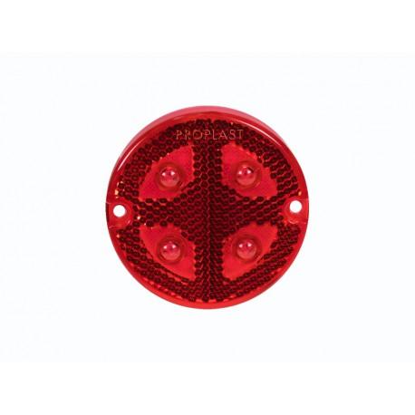 Luce di ingombro posteriore tonda a led Pro-Button rossa 12/24V