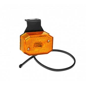 Luce laterale arancione FLEXIPOINT 12V con staffa 90 gradi