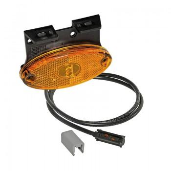 Luce laterale Flatpoint 2 led con staffa 12V-24V connessione P&R