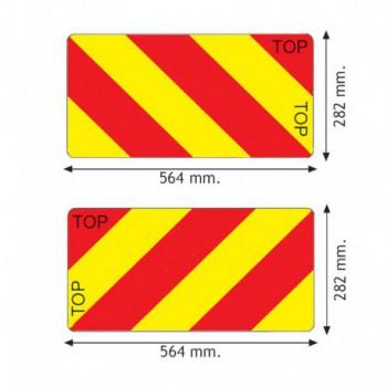 Coppia pannelli agricoli riflettenti e fluorescenti certificati