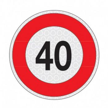 Disco adesivo limite velocità 40Km/h omologato